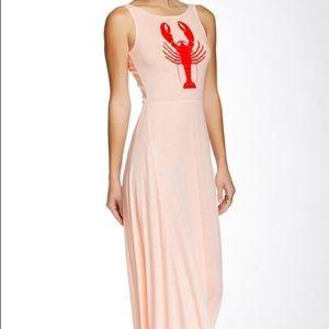Wildfox Lobster Maxi Dress NWT M Sheer HOT!